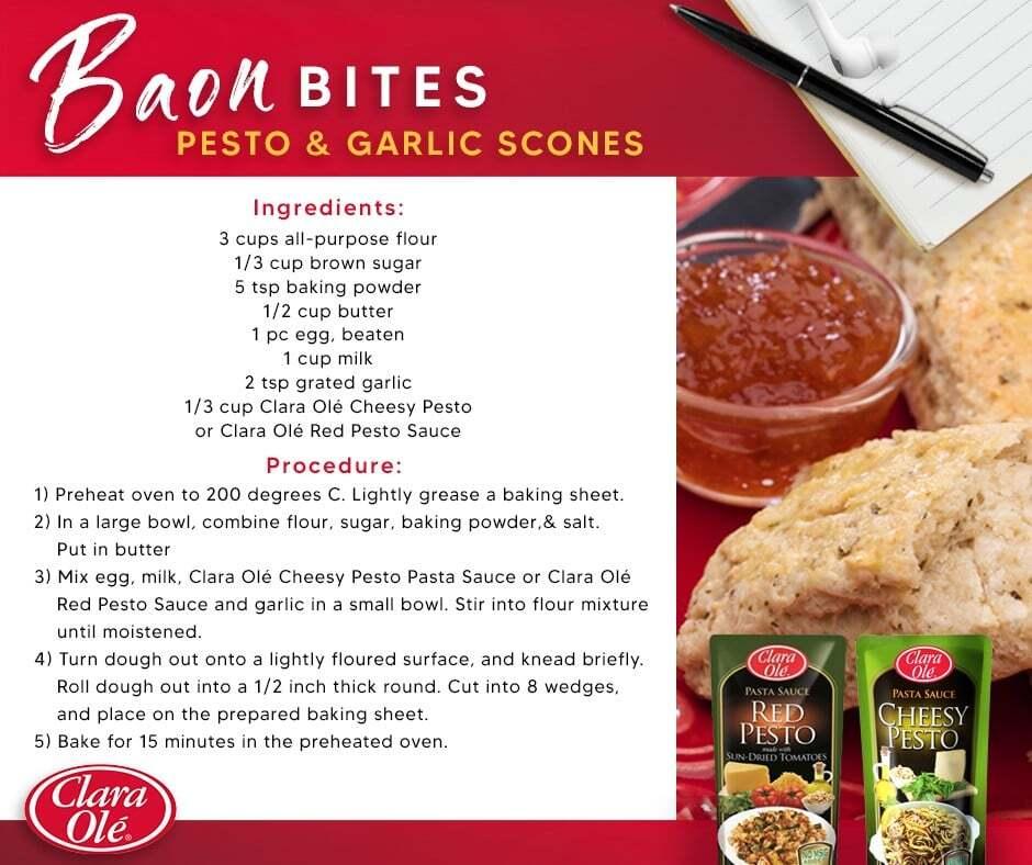 Pesto &Amp; Garlic Scones